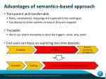advantages of semantics based approach