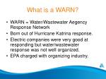 what is a warn