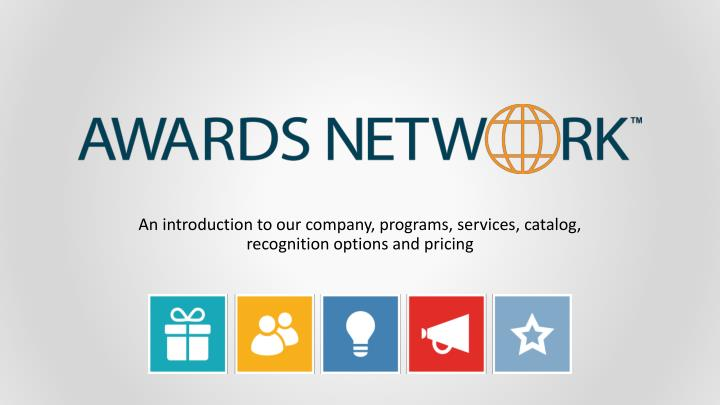 an introduction to our company programs services catalog recognition options and pricing n.