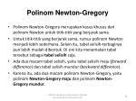 polinom newton gregory