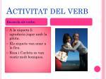 activitat del verb
