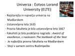 univerza eotvos lorand university elte