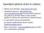 uporabne spletne strani in naslovi