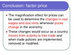 conclusion factor price
