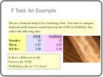 f test an example