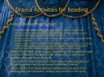 drama activities for reading