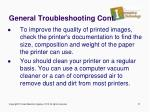 general troubleshooting cont