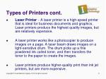types of printers cont4