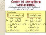 contoh 10 menghitung turunan parsial