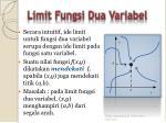 limit fungsi dua variabel