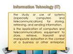 information tehnology it