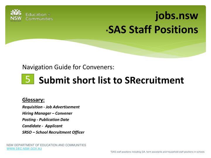 jobs nsw sas staff positions n.
