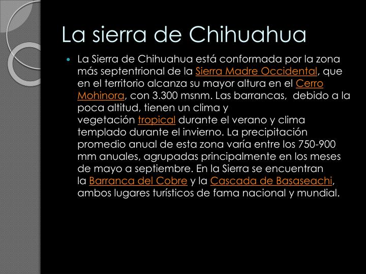 La sierra de Chihuahua