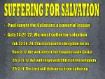 suffering for salvation