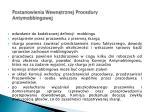 postanowienia wewn trznej procedury antymobbingowej