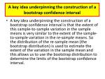 a key idea underpinning the construction of a bootstrap confidence interval1