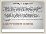 security as right to access