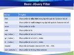 basic jquery filter