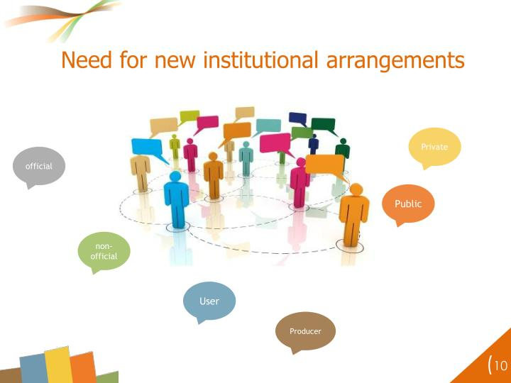 Need for new institutional arrangements