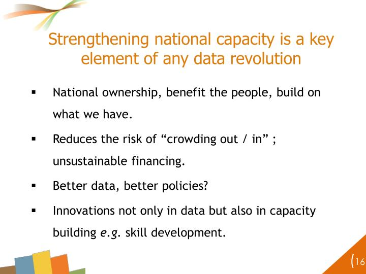 Strengthening national capacity is a key element of any data revolution