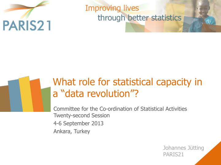 What role for statistical capacity in a data revolution