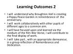 learning outcomes 2