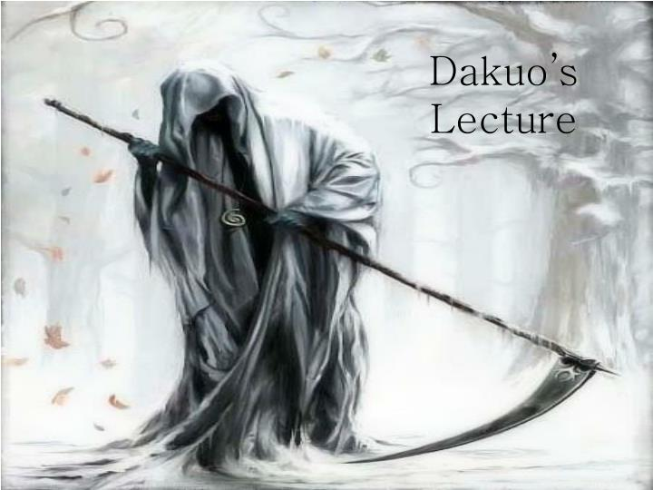dakuo s lecture n.