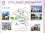 lokasi kampus di kota sendai location of the campuses in sendai city