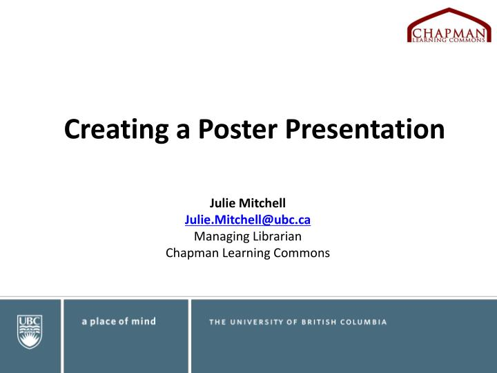creating a poster presentation n.