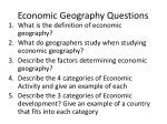 economic geography questions