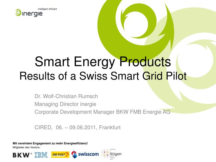smart energy products results of a swiss smart grid pilot n.