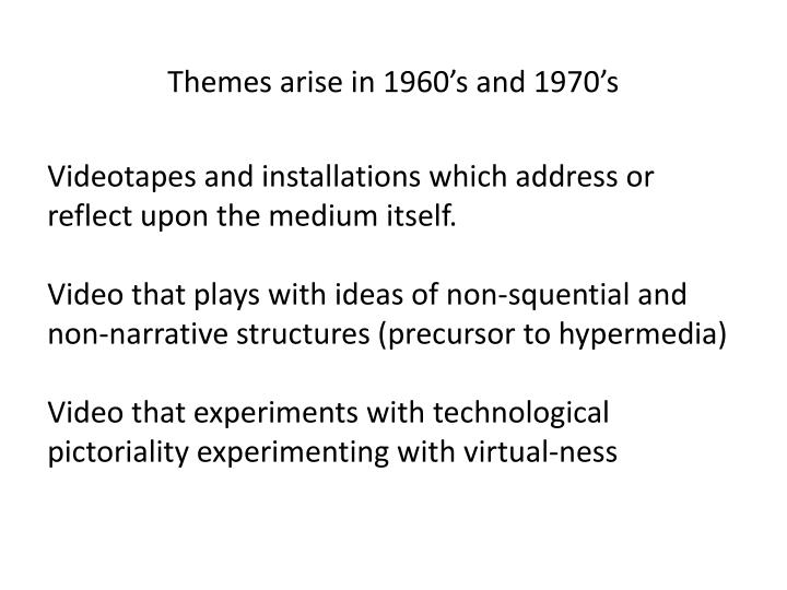 Themes arise in
