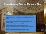 espect culos teatro m sica y cine