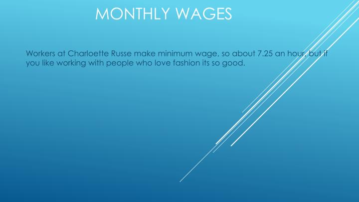Monthly wages