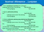 ilustrasi allowance lanjutan