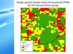 single parent female head of household fhh by us census block group