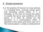 5 endorsements