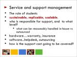 service and support management