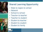 shared learning opportunity