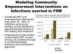 modeling community empowerment interventions on infections averted in fsw