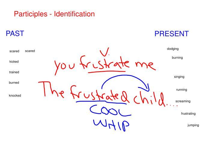 Participles - Identification