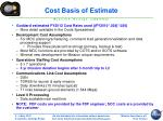cost basis of estimate