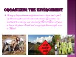 organizing the environment