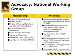 advocacy national working group