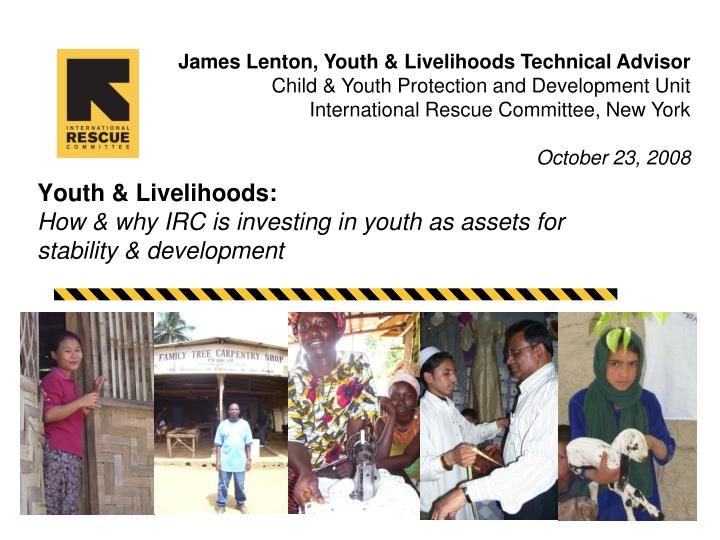 youth livelihoods how why irc is investing in youth as assets for stability development n.