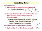 branching decay