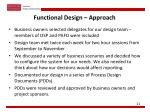 functional design approach