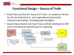 functional design source of truth