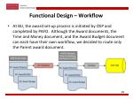 functional design workflow