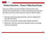 project overview phase 2 objectives scope